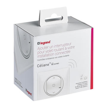 elec ici interrupteur filaire volet roulant connecte blanc. Black Bedroom Furniture Sets. Home Design Ideas